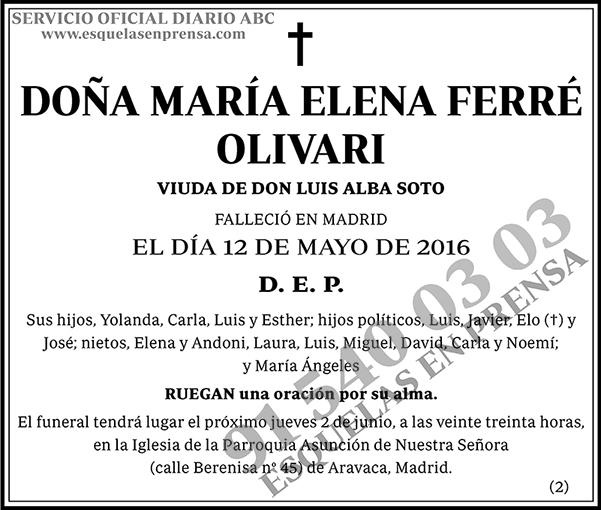 María Elena Ferré Olivari